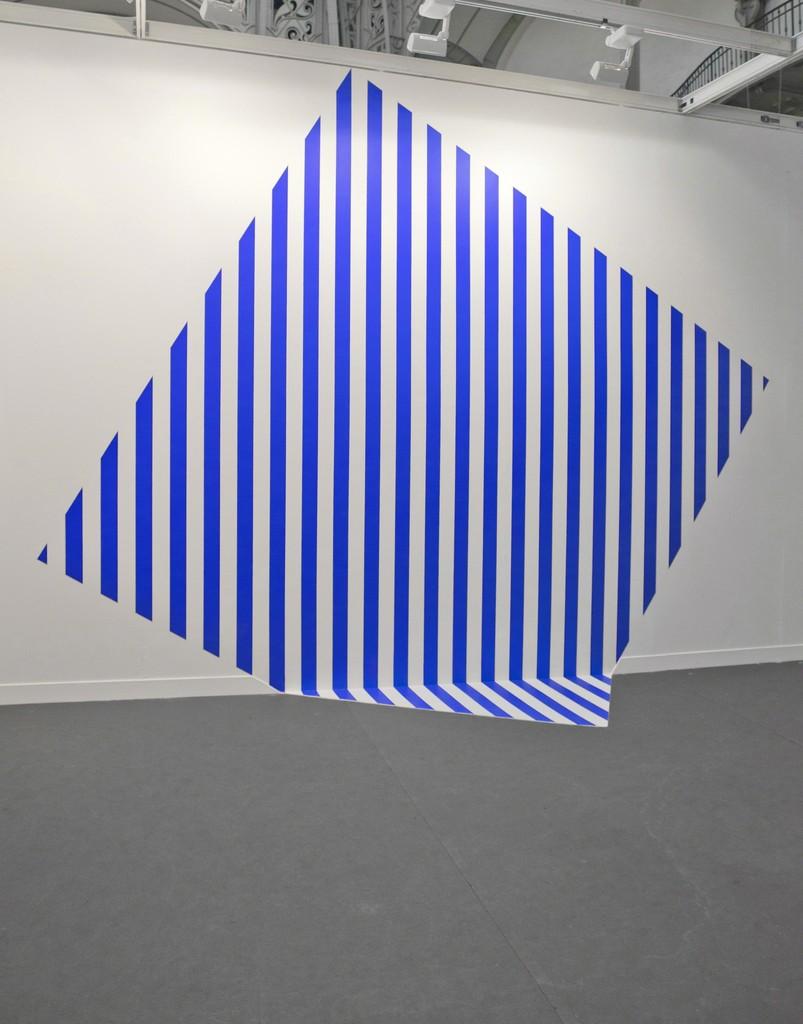 Daniel Buren, 'De travers et trop grand - bleu,' 2013, Galleria Continua