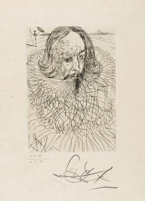 Salvador Dalí, 'El Greco & Cervantes (from Cinq Portraits Espagnols) (M&L 152b & 150b; Field 65-7-E&B)', 1996, Print, Two etchings, Forum Auctions