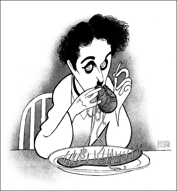 "Al Hirschfeld, '""Charlie Chaplin: The Gold Rush""', 1991, RoGallery"
