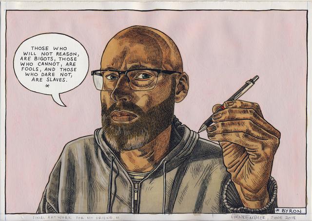 , 'Self-portrait: Bigots, fools or slaves,' 2018, Stevenson