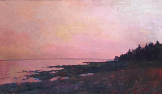 "Larry Horowitz, '""Maine Sunset"" pink sunset over dark beach', 2010-2017, Eisenhauer Gallery"