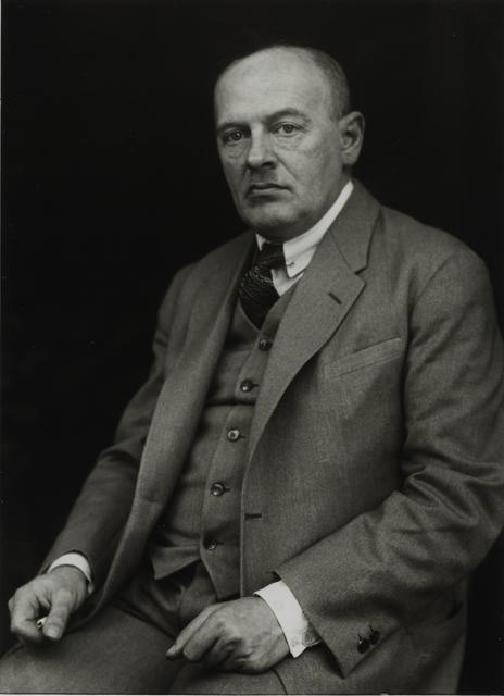 August Sander, 'Philosopher [Max Scheler], c. 1925', Galerie Julian Sander