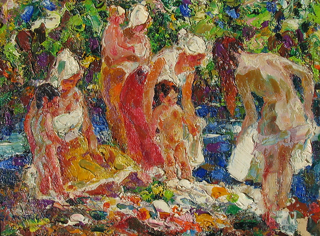 , 'The Bathers,' ca. 1960, Caldwell Gallery Hudson