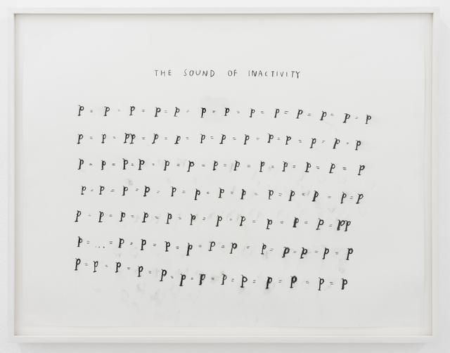 Christine Sun Kim, 'The Sound of Inactivity', 2016, François Ghebaly