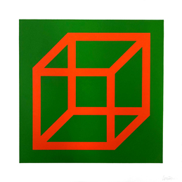 Open Cube in Color on Color