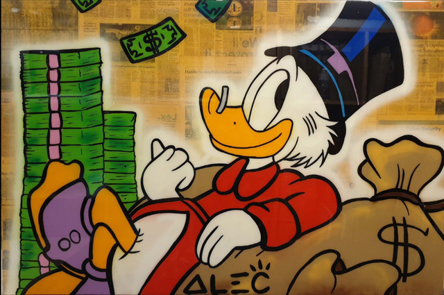 Alec Monopoly, 'Scroodge Sitting on Money Stacks', ca. 2019, Bel-Air Fine Art