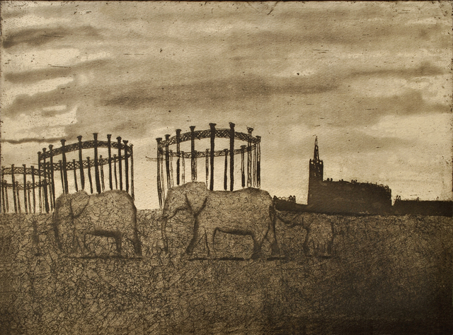 , 'Urban Myths V - A Memory of Elephants in King's Cross,' , Royal Society of Painter-Printmakers