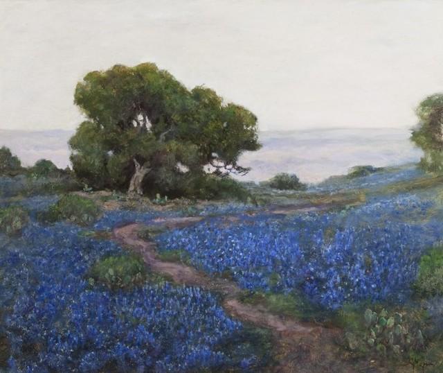 Jerry Malzahn, 'Bluebonnets, Misty Morning, San Antonio, Texas', 2013, Questroyal Fine Art