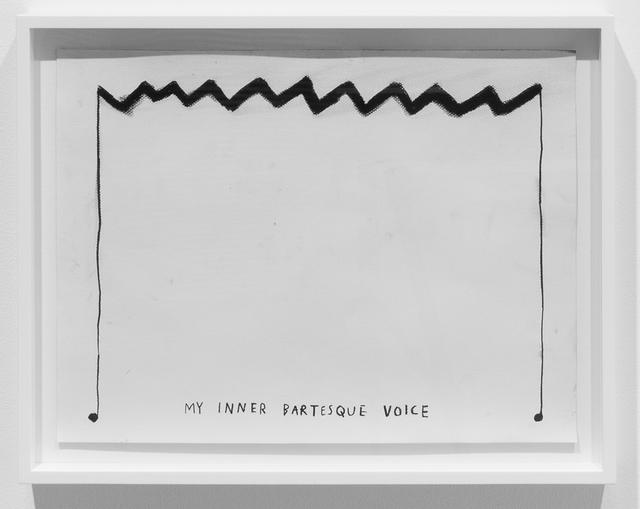 , 'My Inner Bartesque Voice,' 2015, Carroll / Fletcher