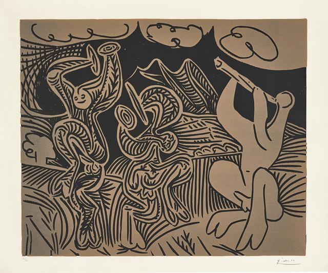 Pablo Picasso, 'Bacchanale: flûtiste et danseurs aux cymbales (Bacchanal: Flutist and Dancers with Cymbals)', 1959, Phillips