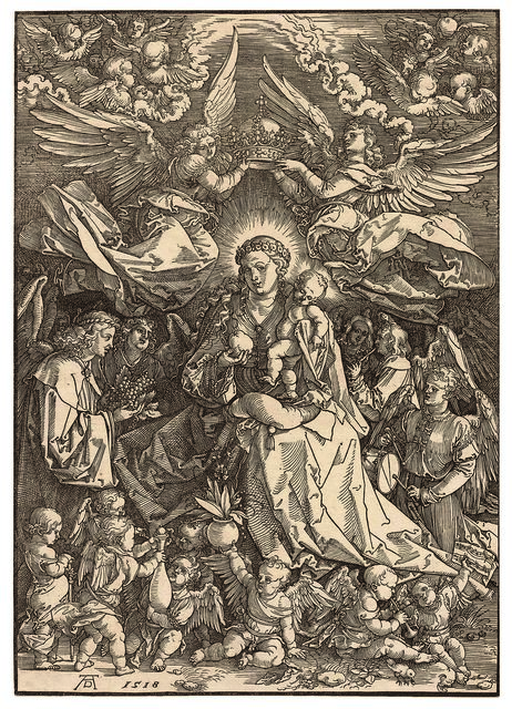 , 'The Virgin and Child surrounded by many Angels,' 1518, Daniela Laube Fine Art