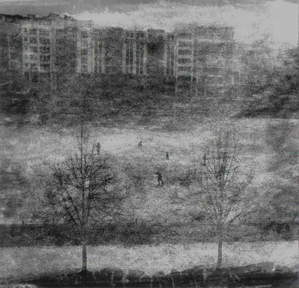Donata Wenders »Winter in Kreuzberg« Berlin 2013  Gelatin silver print Photograph: 17 x 18 cm / 6.7 x 7 in. [H x W] Sheet size: 35 x 29 cm / 13.8 x 11.4 in. [H x W]