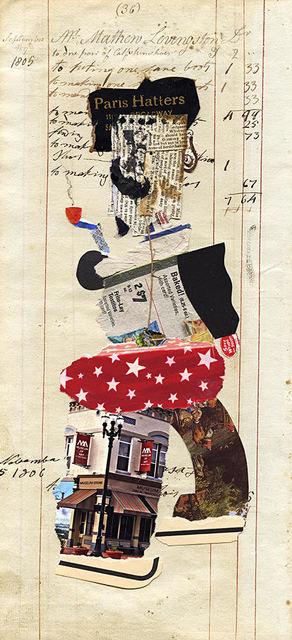 Ben Schonzeit, 'Mr. Livingston (Paris Hatters), Mix Media Collage Series', 2015, Holden Luntz Gallery