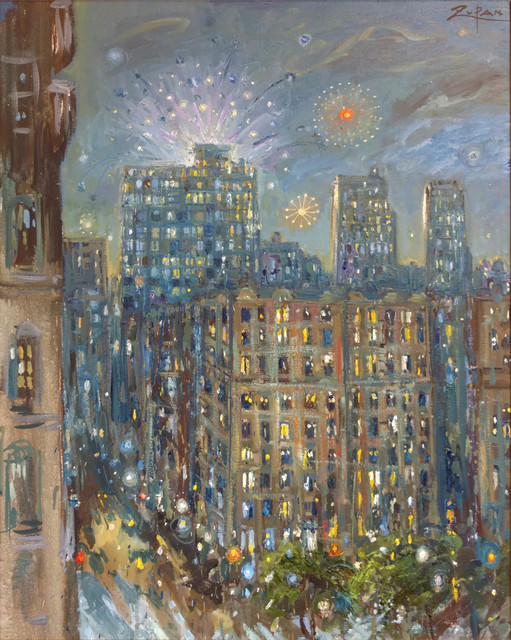 , 'Fireworks in Central Park, Seen from my Balcony,' 2017, Galerie d'Orsay