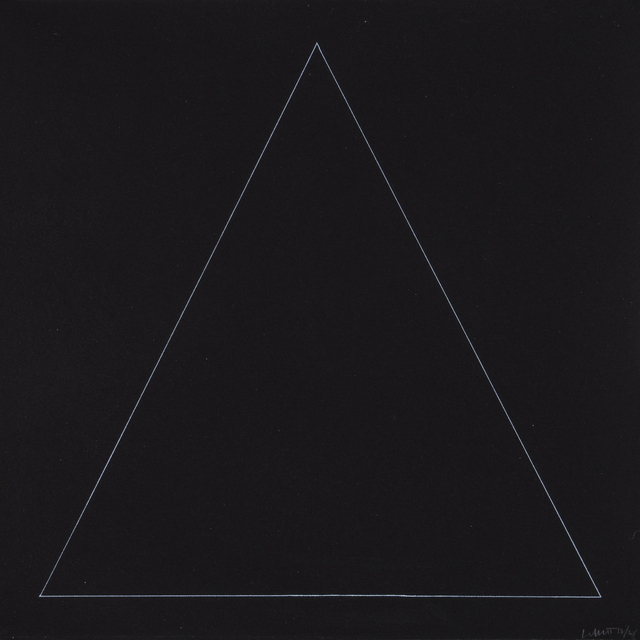 , 'Six Geometric Figures - Triangle,' 1977, Bernard Jacobson Gallery