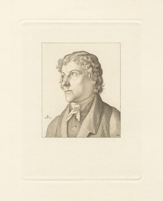 , 'Portrait of Johann Christoph Erhard (after Julius Schnorr von Carolsfeld),' 1860, C. G. Boerner