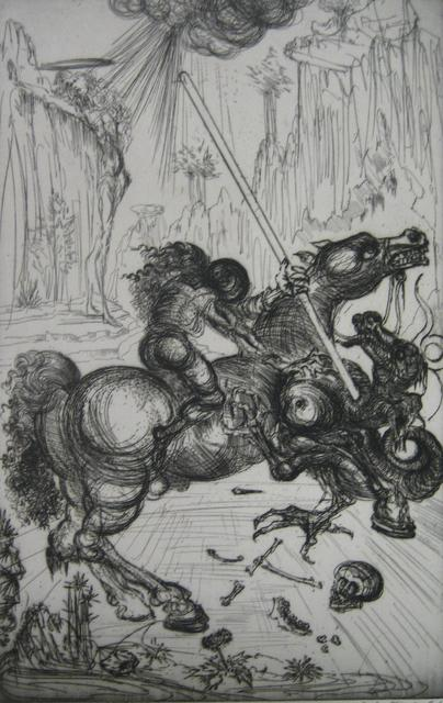 Salvador Dalí, 'St. George and the Dragon', 1947, Print, Etching, Paramour Fine Arts