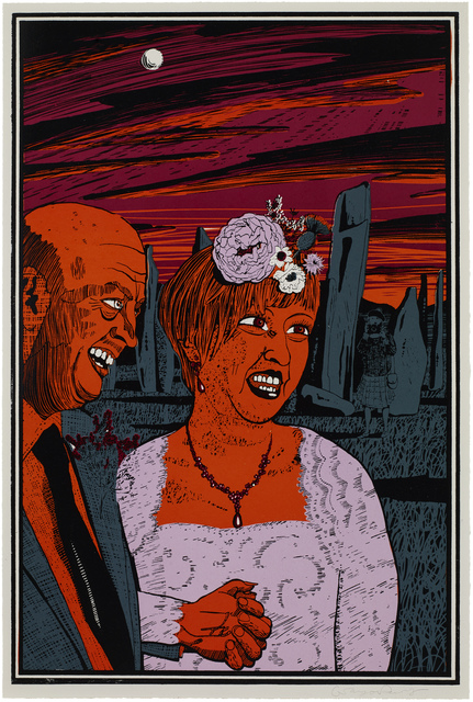Grayson Perry, 'Six Snapshots of Julie (05)', 2015, Print, Woodcut with lithographic underlay, International Print Center New York (IPCNY) Benefit Auction