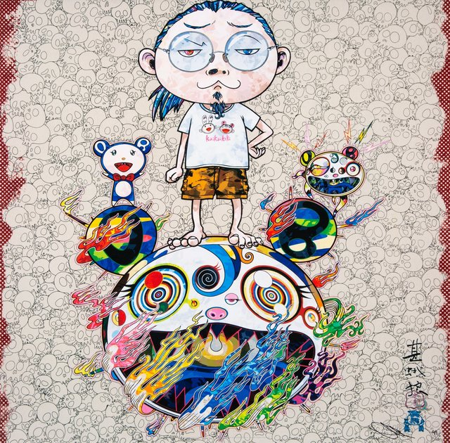 Takashi Murakami, 'Obliterate the Self and Even a Fire is Cool', 2013, Print, Offset lithograph in colors on satin wove paper, Heritage Auctions