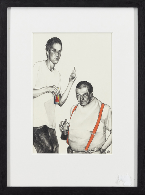 Andrew Ingram, 'The Brothers Grotty', 2010, Drawing, Collage or other Work on Paper, Pencil and ink on paper, Roseberys