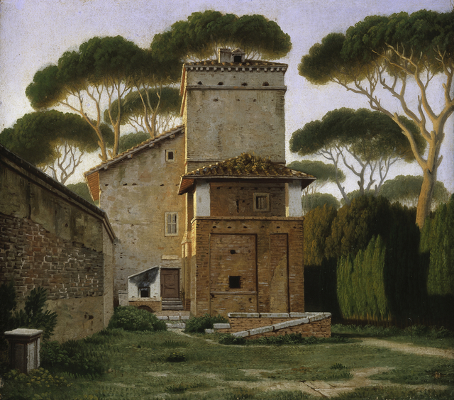 , 'The so-called Raphael's Villa in the Garden of the Villa Borghese in Rome,' 1814-1816, Statens Museum for Kunst