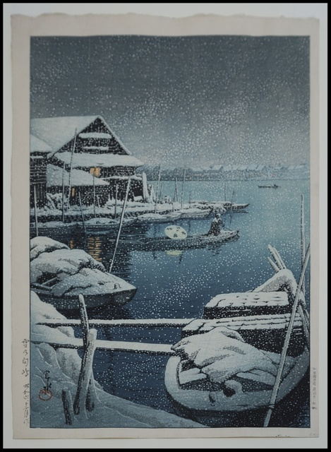 , 'Snow at Mukojima,' 1931, Verne Collection, Inc.