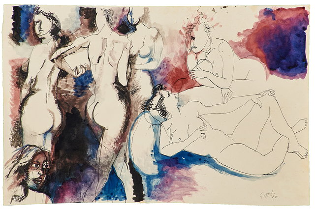 Renato Guttuso, 'Untitled', Painting, Watercolor and ink on paper, Rago/Wright