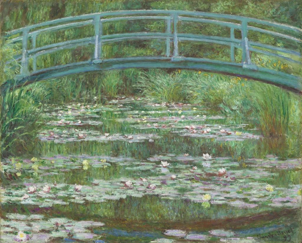 Claude Monet The Japanese Footbridge 1899