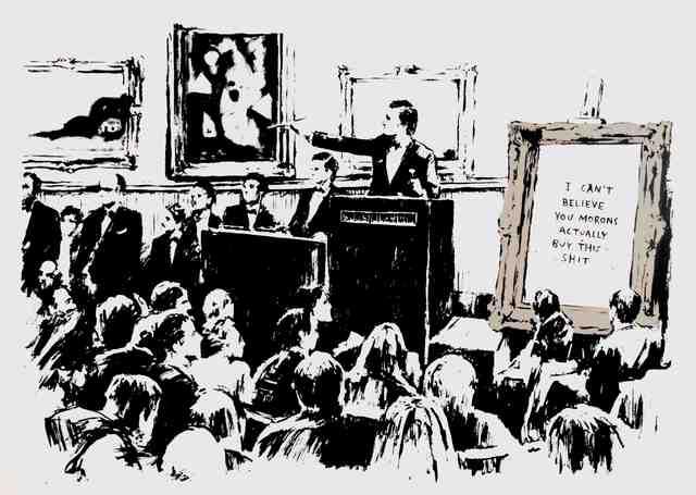 Banksy, 'Morons ', 2006, Maddox Gallery