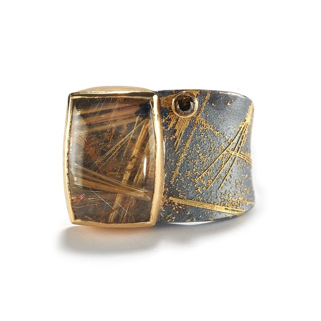 , 'Brown Diamond & Rutilated Quartz Ring,' ca. 2018, Patina Gallery