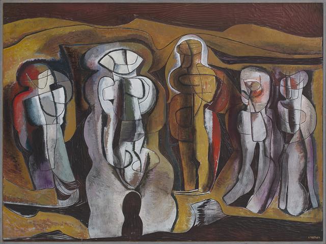 , ''Figures in a metaphysical landscape',' , Johans Borman Fine Art