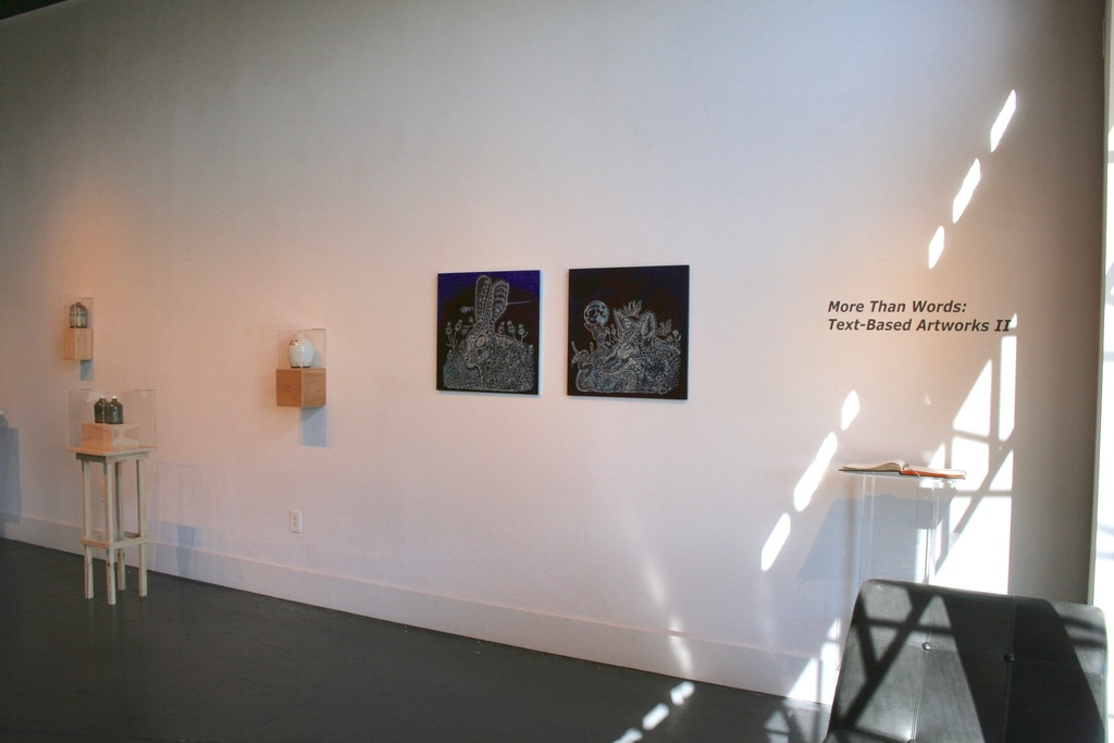 Richard Armendariz paintings and Nate Cassie objects