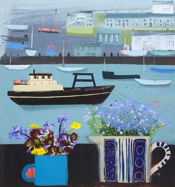 , 'Forget-Me-Not Fowey,' 2018, Beside the Wave