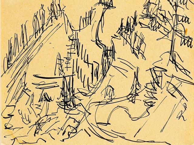 , 'Berglandschaft bei Davos,' 1920-1925, Galerie Herold
