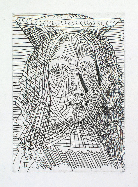 Pablo Picasso, 'Jeune Dame Espagnole', 1968, Print, Etching and aquatint, Goldmark Gallery