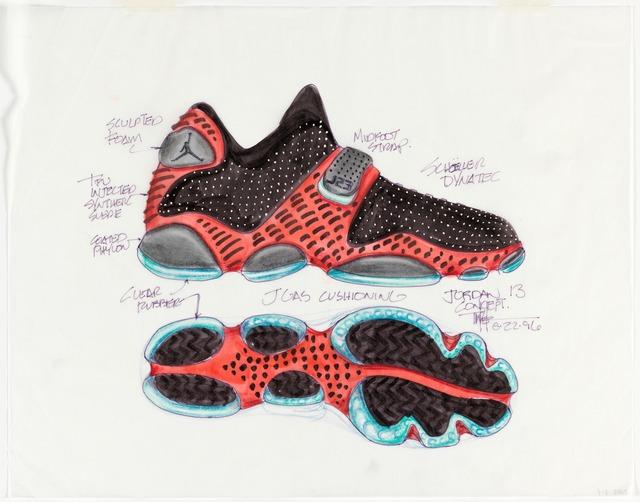 Tinker Hatfield, 'Concept Design for Air Jordan XIII Sneaker', 1996, Cooper Hewitt, Smithsonian Design Museum