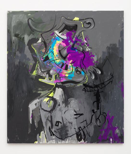 Aaron Curry, 'Grey Portrait (Absent Mind)', 2018, David Kordansky Gallery