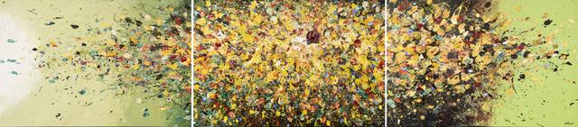 Quetzalcoatl, 'Explosión de sabores 1', 2009-2020, Painting, Triptych in acrylic + industrial varnish on canvas, Biaggi & Faure Fine Art