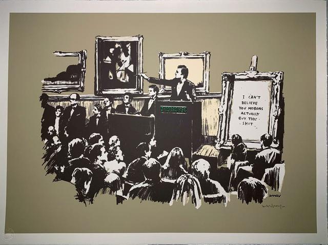 Banksy, 'Morons - Sepia', 2007, Gormleys Fine Art