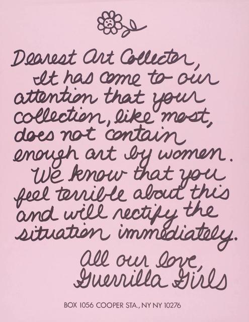 , 'Dearest Art Collector,' 1986, mfc - michèle didier