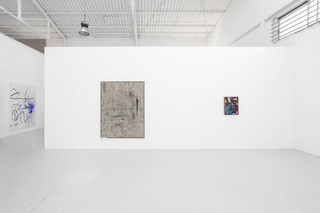 Group exhibition: 20 cm from the ground, 2017-2018. Part of the installation views, Louis 21. (l-r): Jana Schröder, Ian Waelder, Daniel Jensen.