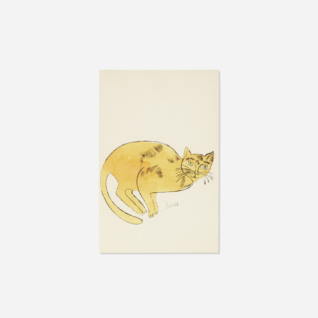 Andy Warhol, 'Sam (from 25 Cats Named Sam and One Blue Pussy)', c. 1954, Print, Hand-colored offset lithograph on paper, Rago/Wright