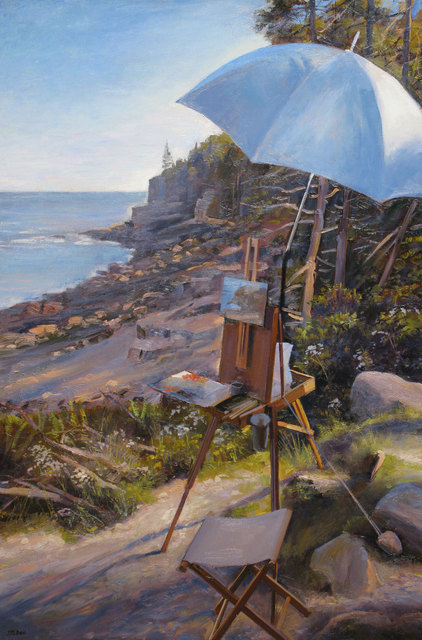 Joel Babb, 'Easel at Otter Cliffs, Mt. Desert Island, Maine', 2012, Vose Galleries