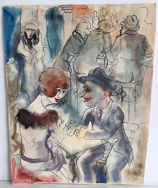 , 'Caféhaus, Berlin,' 1923, Alice Adam Ltd.