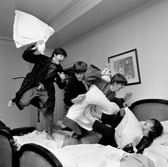Harry Benson, 'Beatles Pillow Fight, Paris', 1964, Fahey/Klein Gallery