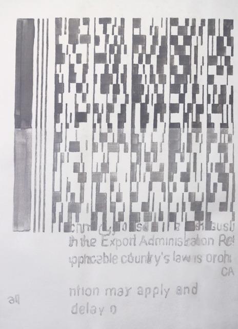 , 'Pasaporte detail (grid),' 2014, Josée Bienvenu