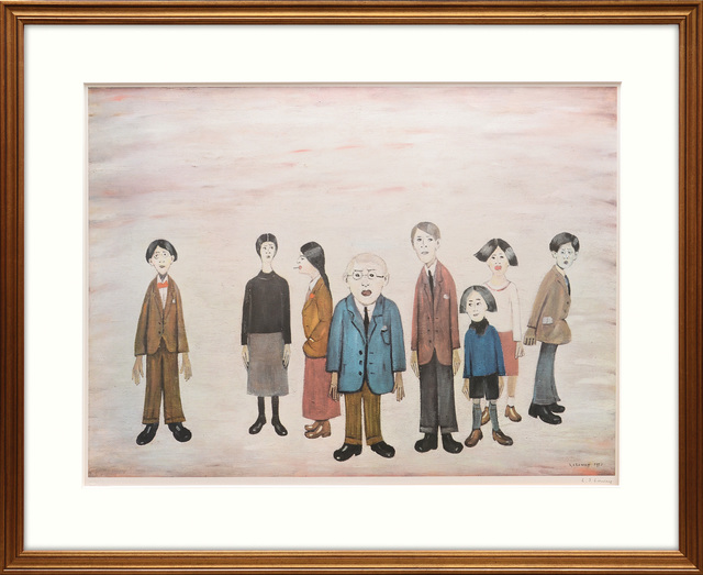 L.S. Lowry, 'His Family', 1972, Peter Harrington Gallery