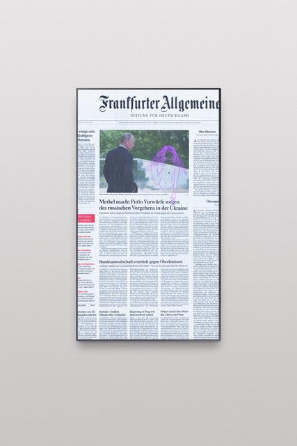 , 'Online Newspapers, Postfactual Edition, Putin,' 2017, Roehrs & Boetsch