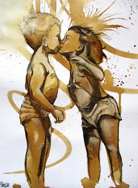 MineWill, 'Kiss coffee 2', 2018, Galerie Libre Est L'Art