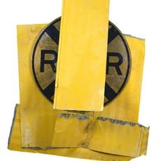 Robert Rauschenberg, 'Yellow Visor Glut', 1989, Mixed Media, Assembled metal, Robert Rauschenberg Foundation
